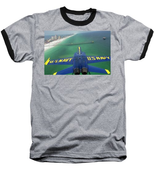Over Pensacola Beach Baseball T-Shirt by Specialist 3rd Class Andrew Johnson
