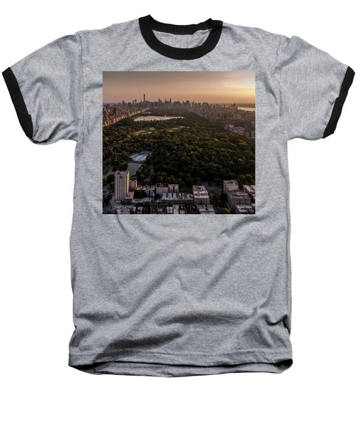 Over The City Central Park Baseball T-Shirt
