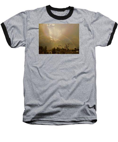 Over The Rainbow Garden Baseball T-Shirt by Deborah Moen