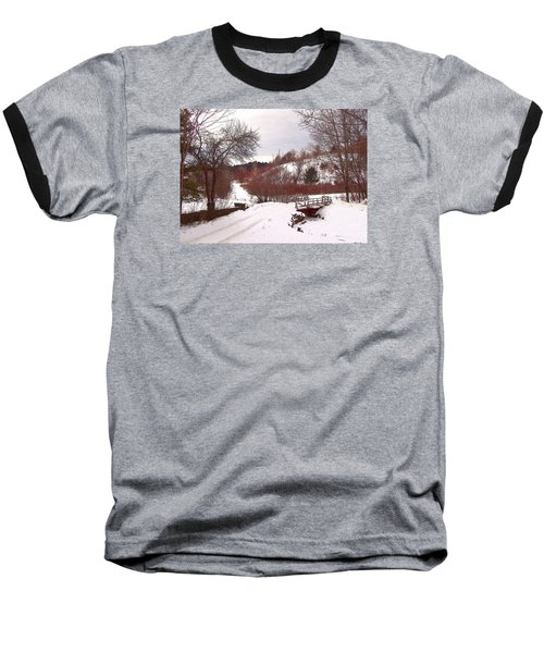 Over The River Baseball T-Shirt by Betsy Zimmerli
