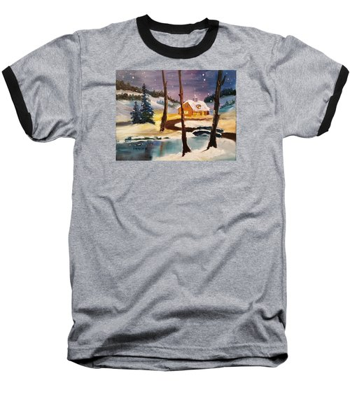 Over The River Baseball T-Shirt by Larry Hamilton