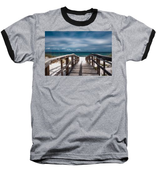 Over The Sand Baseball T-Shirt
