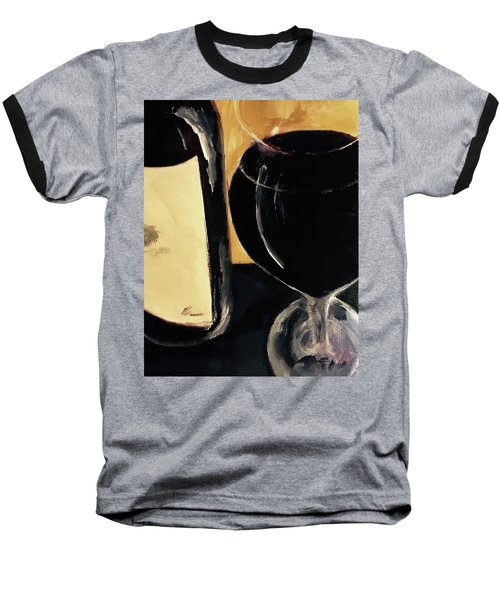 Baseball T-Shirt featuring the painting Over The Top by Lisa Kaiser