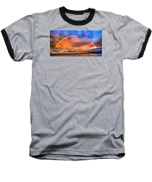 Over The Top Rainbow Baseball T-Shirt by Steve Siri