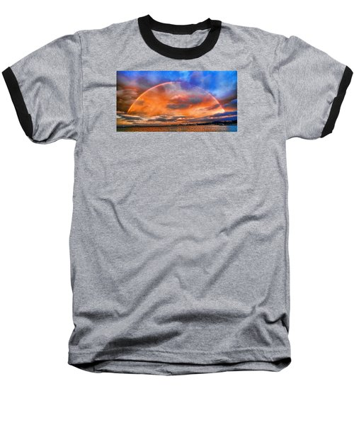 Baseball T-Shirt featuring the photograph Over The Top Rainbow by Steve Siri