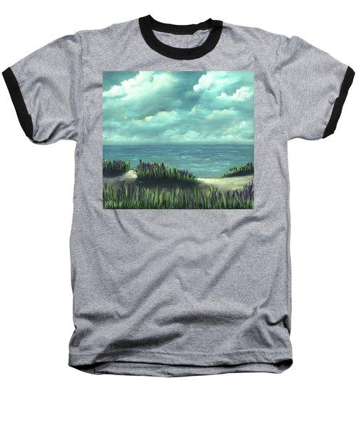 Baseball T-Shirt featuring the painting Overcast by Anastasiya Malakhova