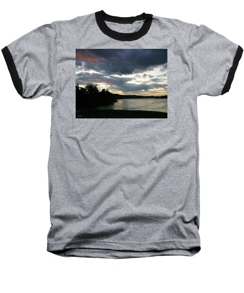 Overcast Morning Along The River Baseball T-Shirt