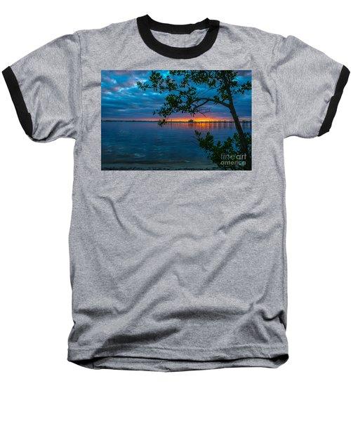 Overcast Sunrise Baseball T-Shirt by Tom Claud