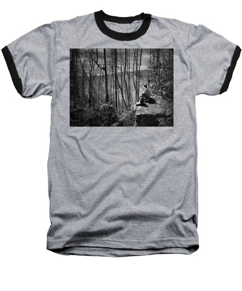 Overlook By Rainbow Falls Baseball T-Shirt by Kelly Hazel