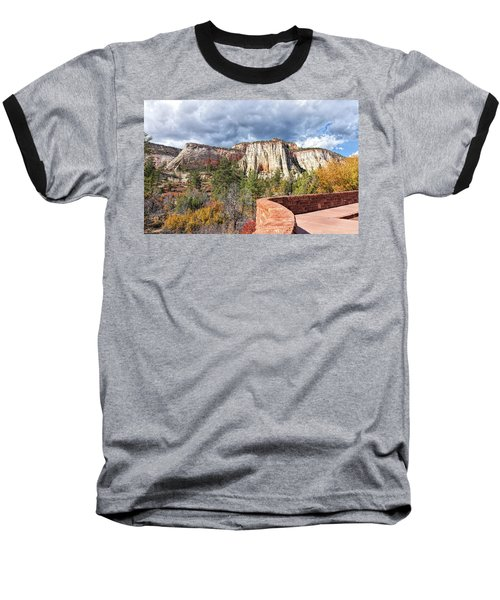 Overlook In Zion National Park Upper Plateau Baseball T-Shirt by John M Bailey