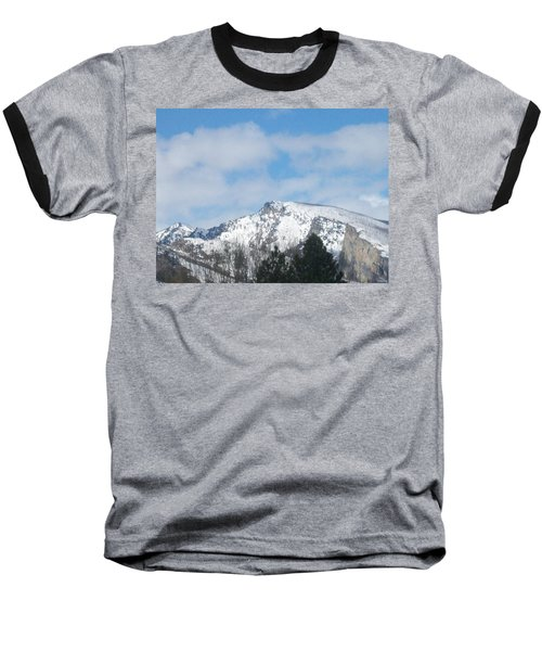 Overlooking Blodgett Baseball T-Shirt by Jewel Hengen