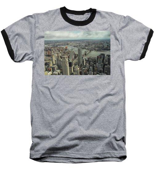 Overlooking Manhattan's East River  Baseball T-Shirt