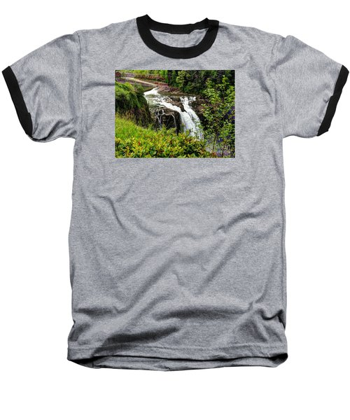 Overlooking Snoqualmie Falls Baseball T-Shirt by Chris Anderson