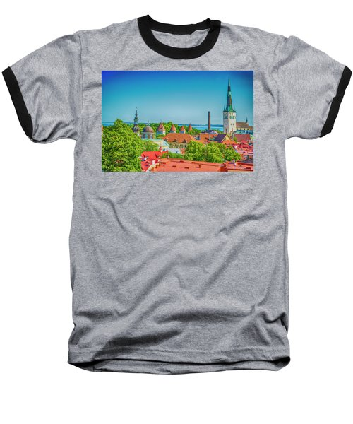 Overlooking Tallinn Baseball T-Shirt