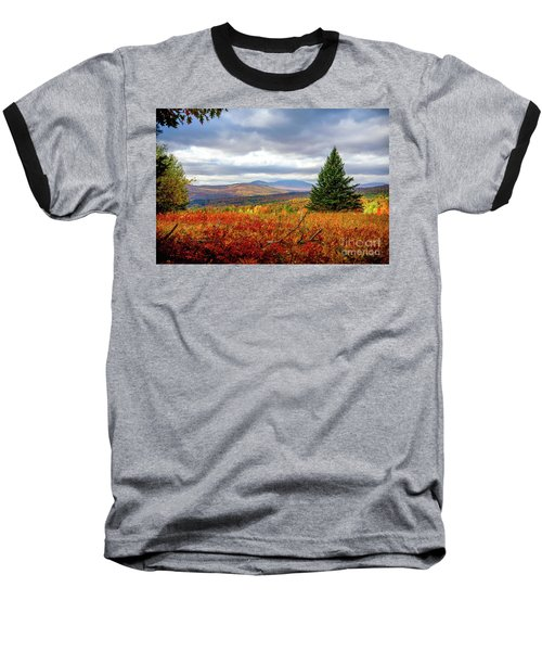 Overlooking The Foothills Baseball T-Shirt