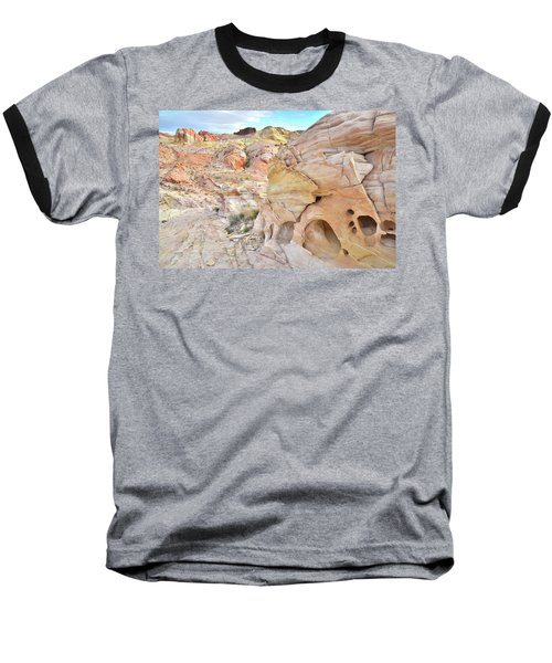 Overlooking Wash 5 In Valley Of Fire Baseball T-Shirt