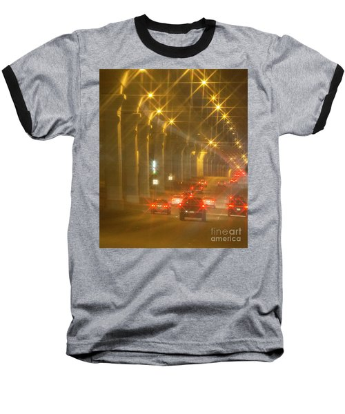 Baseball T-Shirt featuring the photograph Overpass Traffic by Linda Phelps