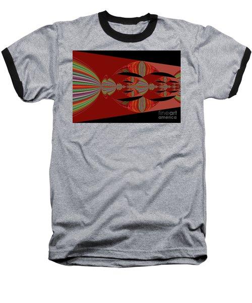 Red Abstract Ovs 26 Baseball T-Shirt