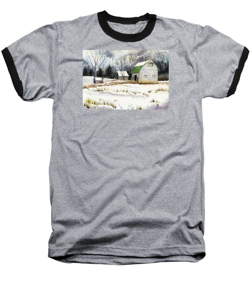 Baseball T-Shirt featuring the painting Owen County Winter by Katherine Miller