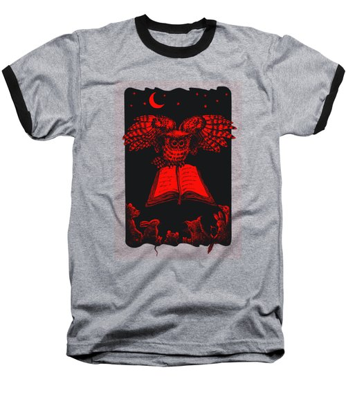 Owl And Friends Redblack Baseball T-Shirt