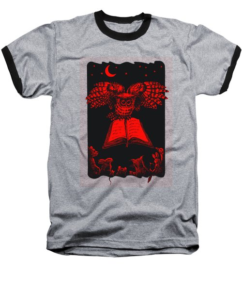 Owl And Friends Redblack Baseball T-Shirt