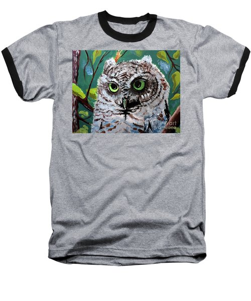 Owl Be Seeing You Baseball T-Shirt by Tom Riggs