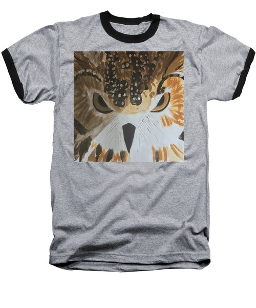 Owl Baseball T-Shirt by Donald J Ryker III
