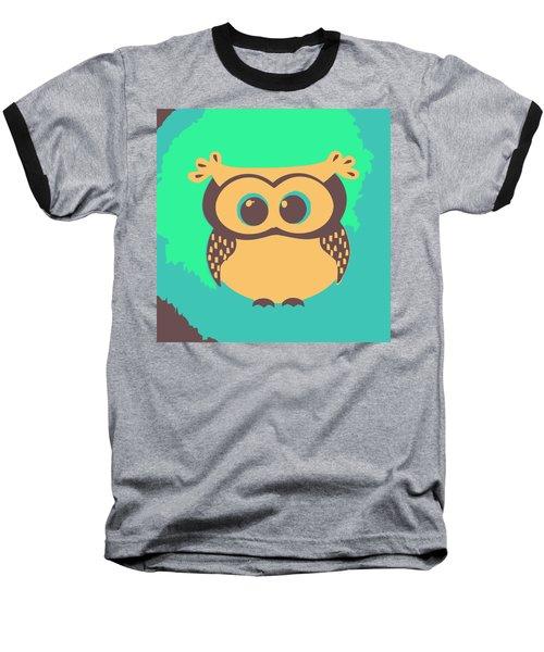 Owl In The Woods Baseball T-Shirt