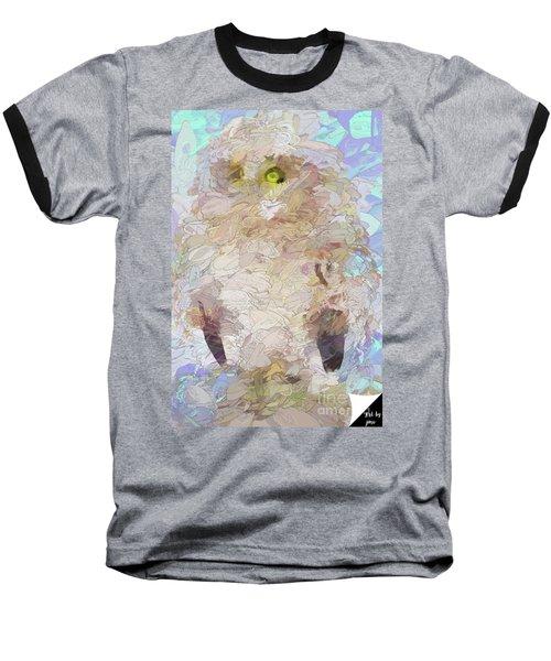 Baseball T-Shirt featuring the digital art OWL by Jim  Hatch