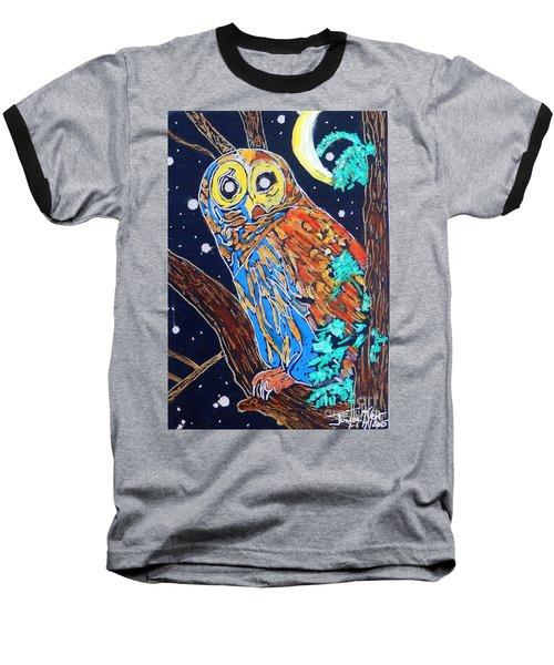 Owl Light Baseball T-Shirt