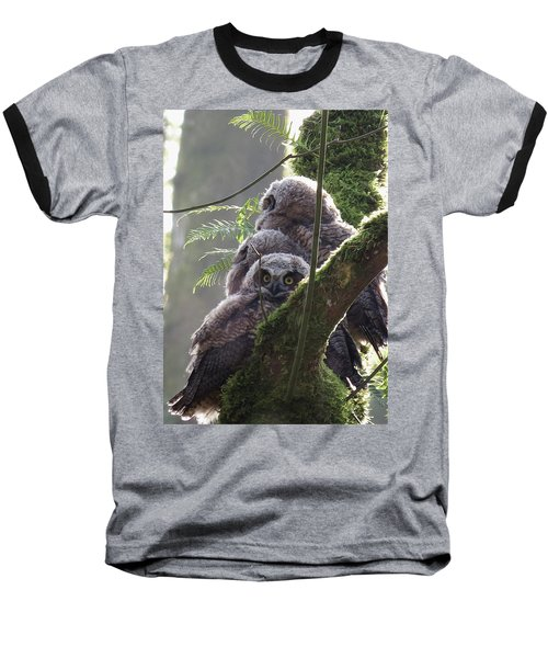 Owl Morning Baseball T-Shirt by I'ina Van Lawick