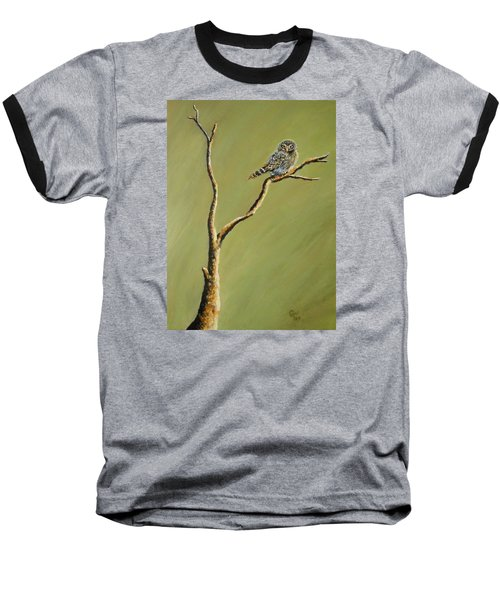 Owl On A Branch Baseball T-Shirt
