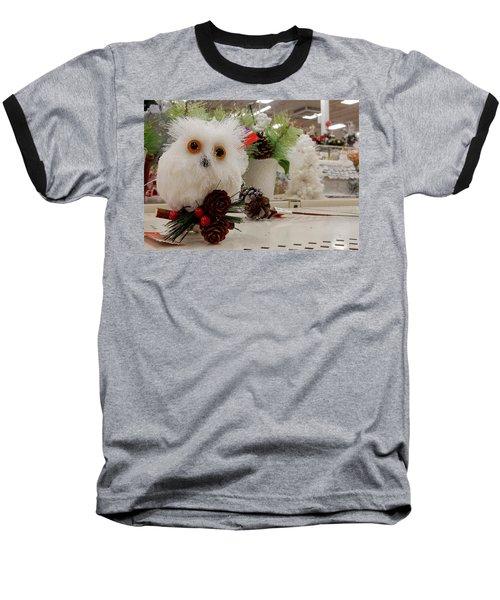 Owl On The Shelf Baseball T-Shirt