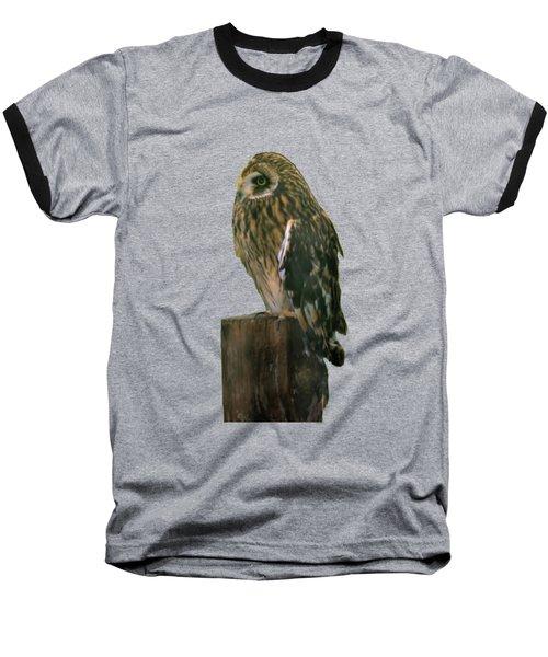 Owl Baseball T-Shirt by Pamela Walton