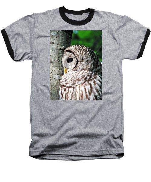 Owl Profile Baseball T-Shirt