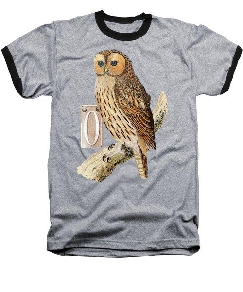 Owl T Shirt Design Baseball T-Shirt by Bellesouth Studio