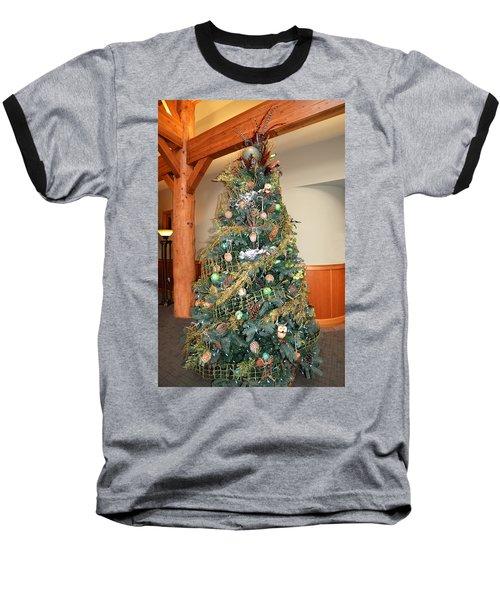 Owl Xmas Tree Baseball T-Shirt