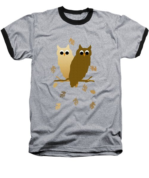 Owls Pattern Art Baseball T-Shirt