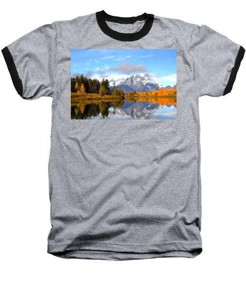 Mt Moran At Oxbow Bend Baseball T-Shirt