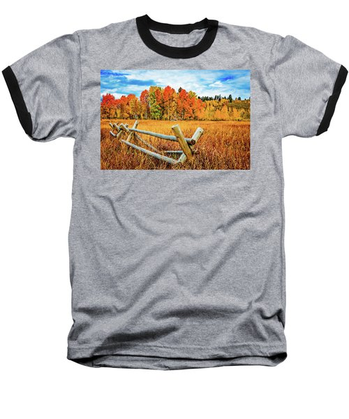 Oxbow Bend Fall Color Baseball T-Shirt