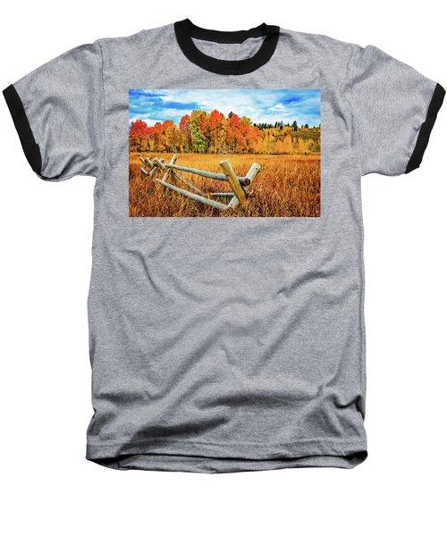 Oxbow Bend Fall Color Baseball T-Shirt
