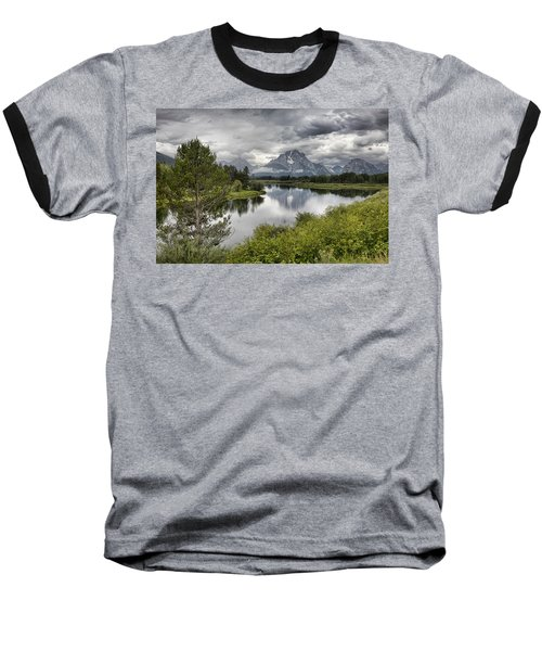 Oxbow Bend Baseball T-Shirt by Hugh Smith