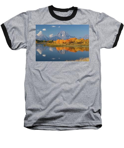 Oxbow Bend Reflection Baseball T-Shirt