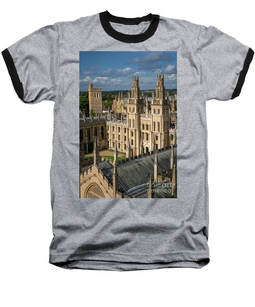Baseball T-Shirt featuring the photograph Oxford Spires by Brian Jannsen