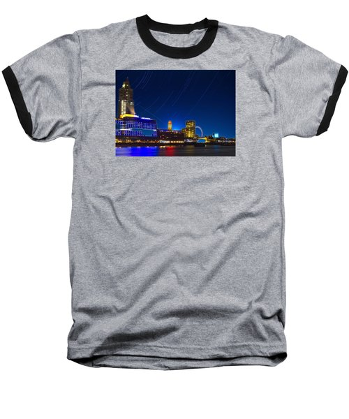 Oxo Tower Star Trails Baseball T-Shirt by David French