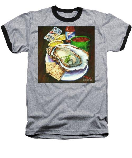 Oyster And Crystal Baseball T-Shirt