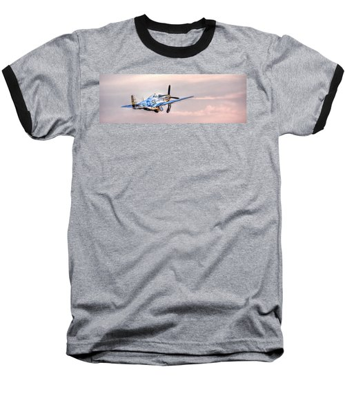 P-51 Mustang Taking Off Baseball T-Shirt