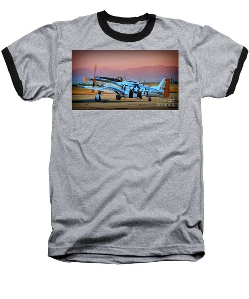P-51d Mustang 'dakota Kid II. The Long Island Kid' And Casey Odegaard Baseball T-Shirt