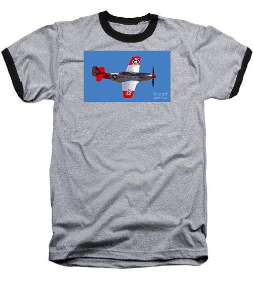 P-51d Mustang Flyby Baseball T-Shirt