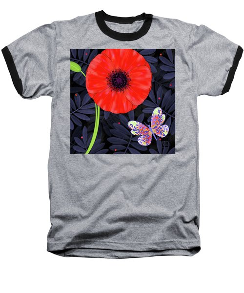 P Is For Pretty Poppy Baseball T-Shirt
